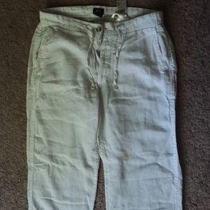 H&M White Linen Beachy Pants